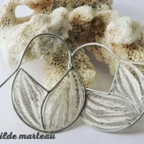 Boucles d'oreilles en filigrane, argent - Mathilde Marteau