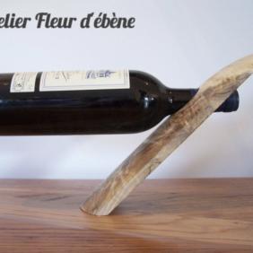 Support bouteille - Fleur D'Ebène