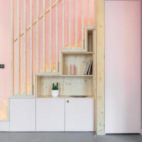 escalier fonctionnel bois