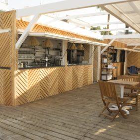 Restaurant de plage bois - démontable