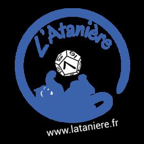 Remise à neuf du logo du magasin de jeux de société L'Atanière à Toulon !