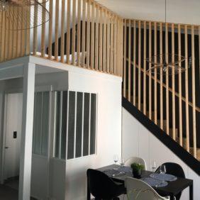 intérieur mezzanine bois