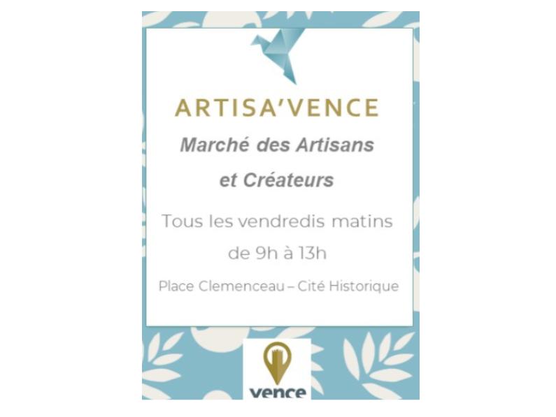 La Ville de Vence lance Artisa'Vence Marché des Artisans et Créateurs