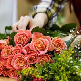 Créations exclusivement en fleurs fraîches
